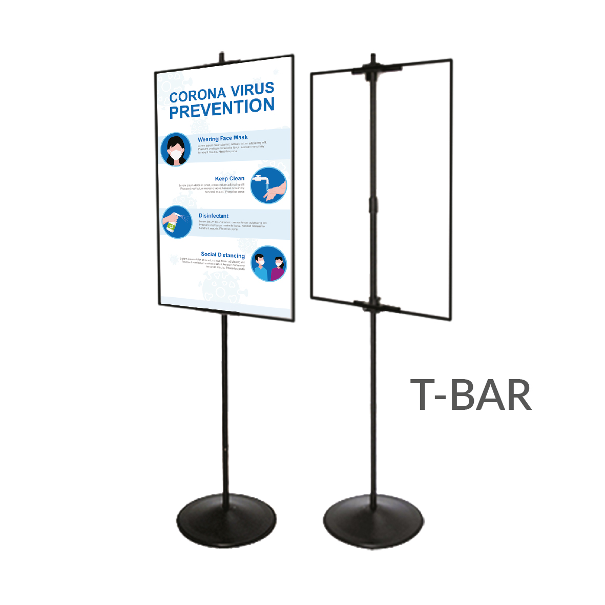 T-Bar Standees