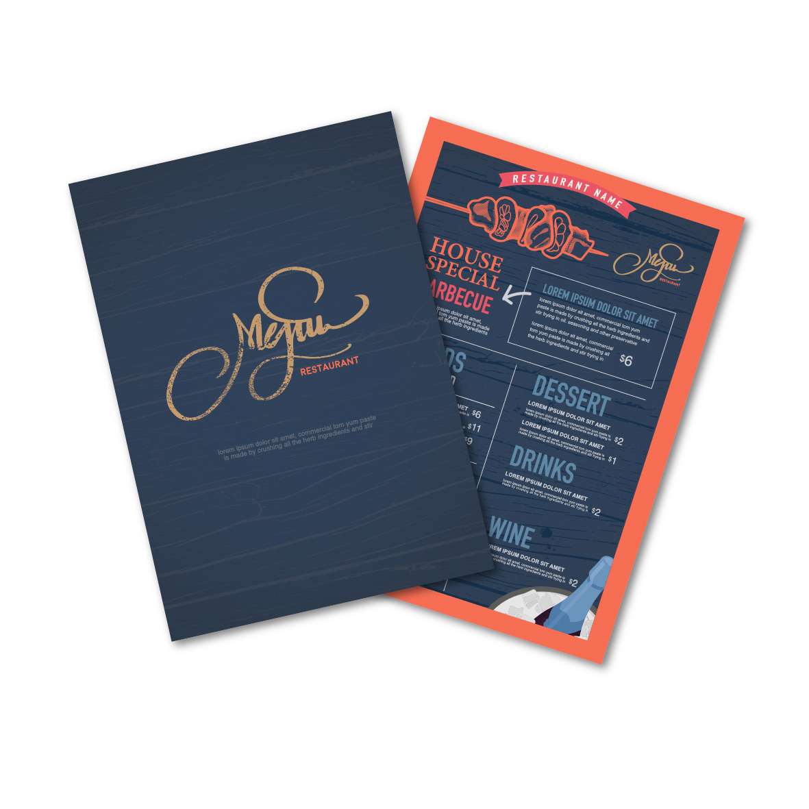 Menu with Lamination