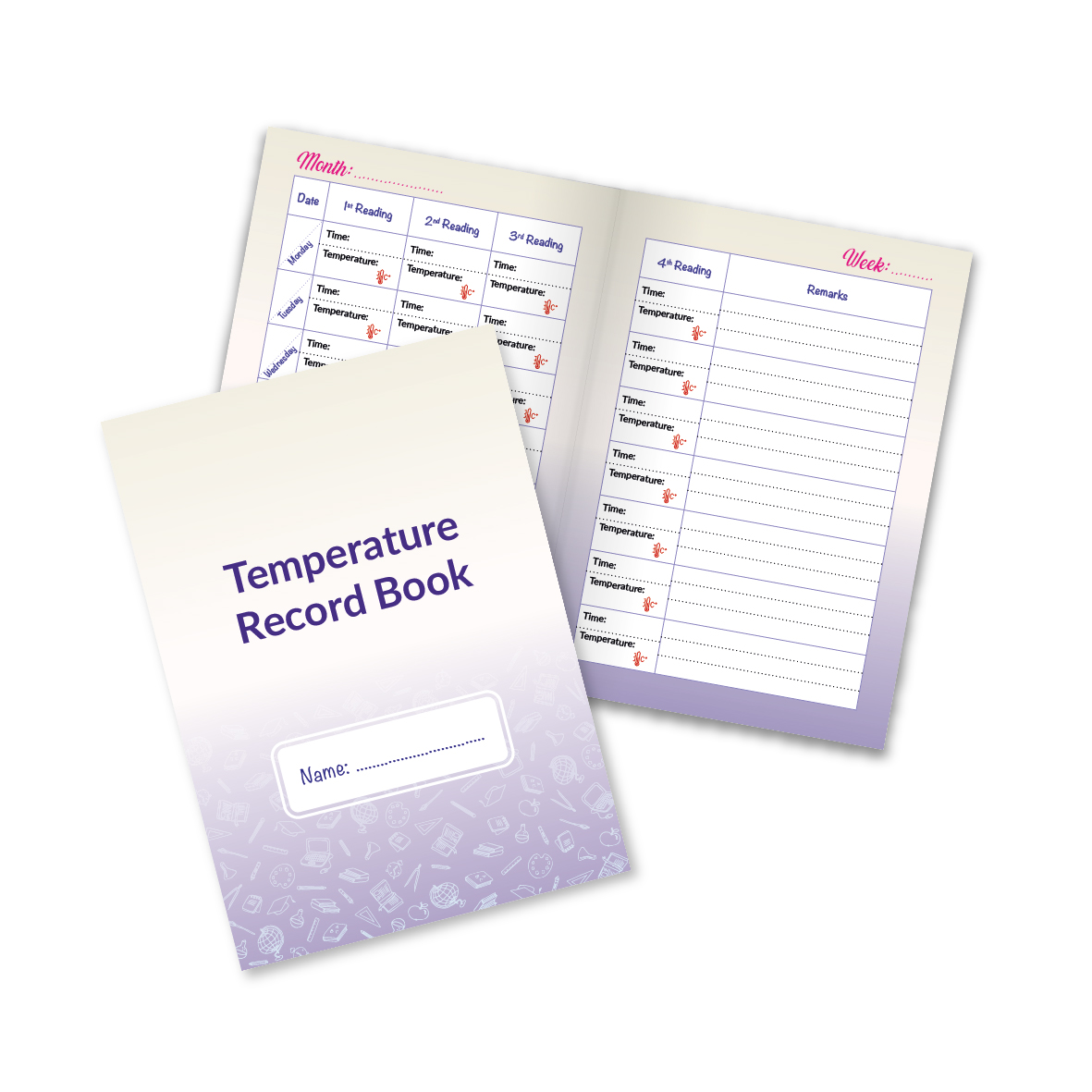 Ready Made Temperature Log Books