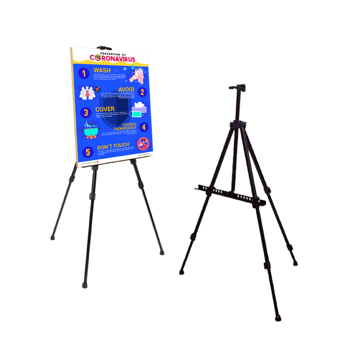 Tripod T-Bar Standees