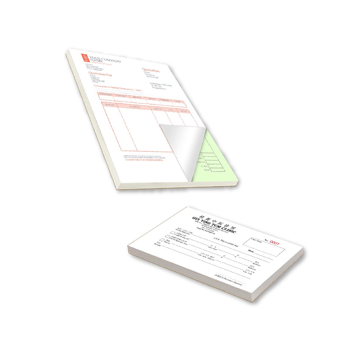 NCR Pad Forms / Receipt Pad Forms
