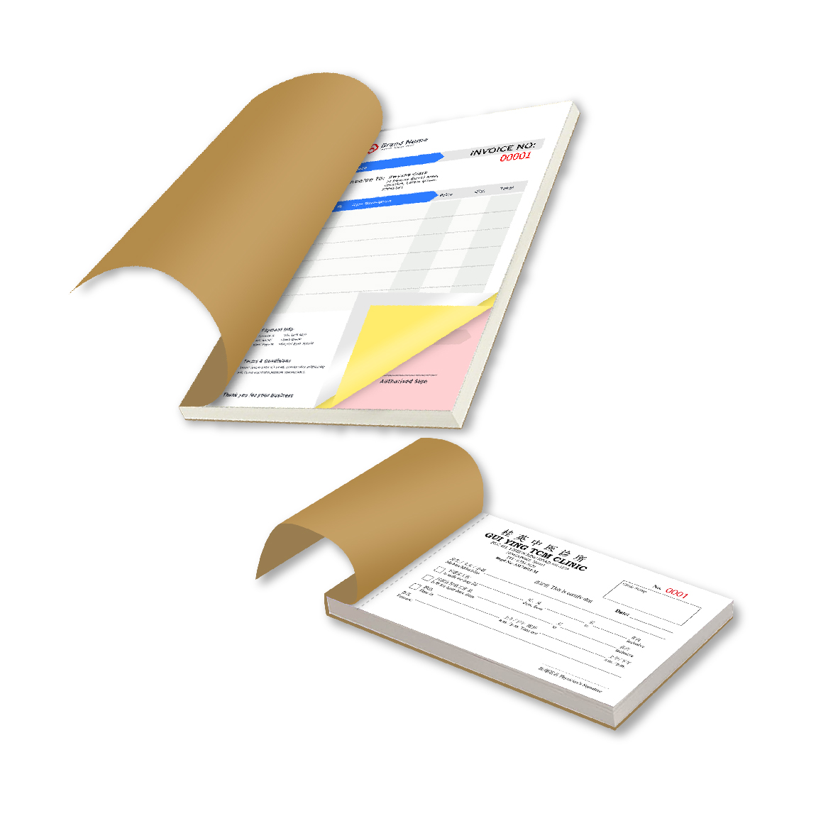 NCR Book Forms / Receipt Book Forms
