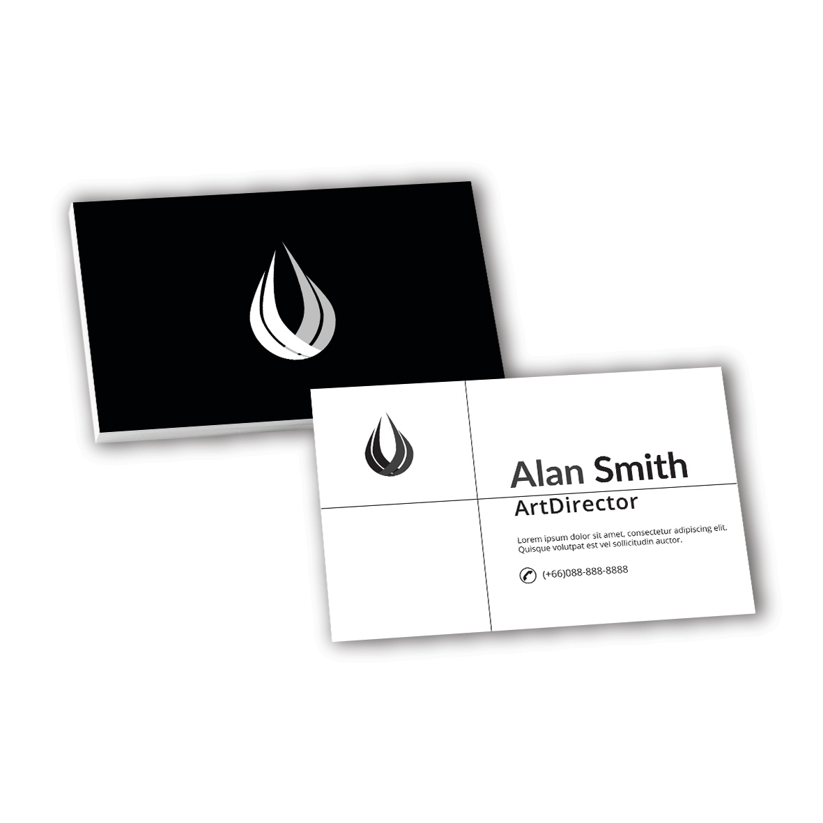 Name Cards (Black & White)